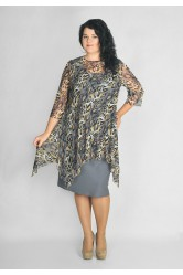 Платье с туникой Lila 52672